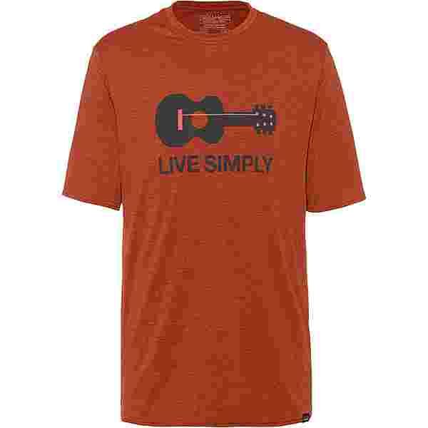 Patagonia CAP COOL DAILY GRAPHIC Funktionsshirt Herren live simply guitar-roots red x-dye