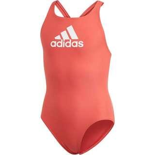 adidas BADGE OF SPORT Badeanzug Kinder glory red-white