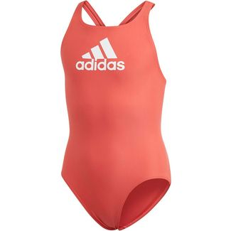 adidas YA BOS SUIT Badeanzug Kinder glory red-white