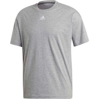 adidas Funktionsshirt Herren medium grey heather-white