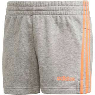 adidas YG E 3S SHORT Shorts Kinder medium grey heather-signal coral