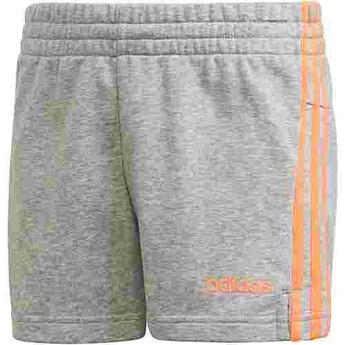 adidas YG E 3S SHORT Shorts Kinder medium grey heather-signal coral