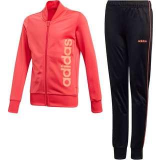 adidas YG PES TS Trainingsanzug Kinder core pink-black-signal coral