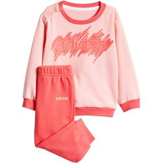 adidas I LIN JOGG FT Trainingsanzug Kinder glory pink-core pink