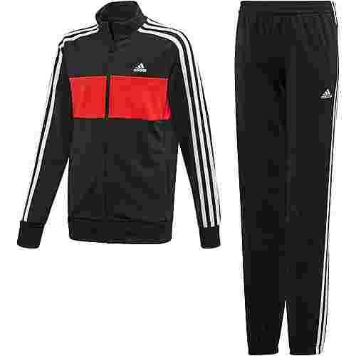 adidas YB TS TIBERIO Trainingsanzug Kinder black-vivid red-white