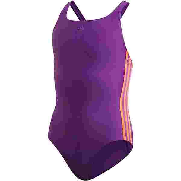 adidas 3 STRIPES Badeanzug Kinder glory purple-app solar red