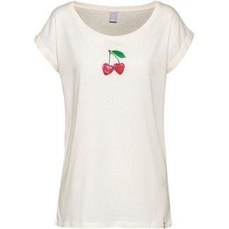 iriedaily Cherry Heart T-Shirt Damen offwhite