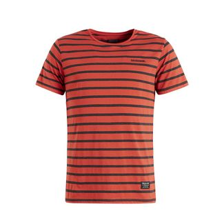 Khujo SAER T-Shirt Herren orange gestreift
