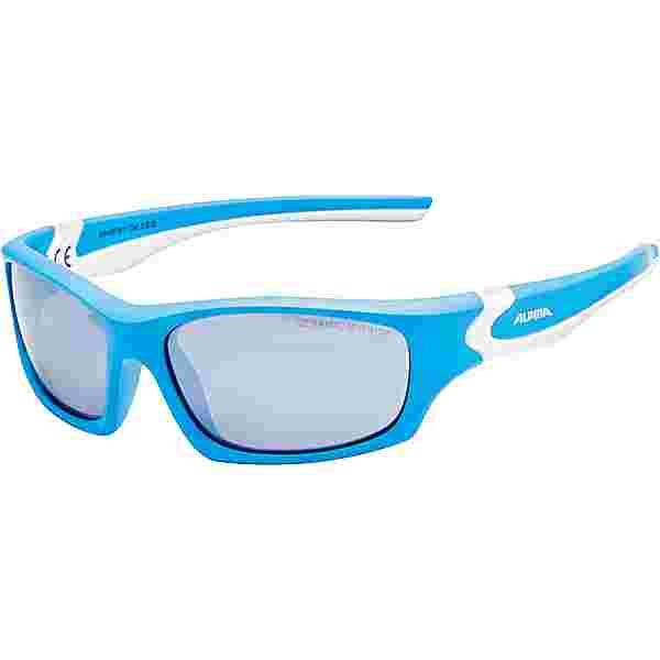 ALPINA FLEXXY TEEN Sportbrille Kinder cyan-white
