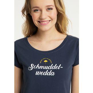 Schmuddelwedda Printshirt Damen marine