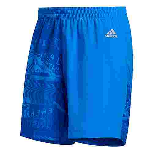 adidas Run It Graphic Shorts Funktionsshorts Herren Glory Blue / Team Royal Blue