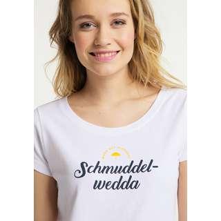 Schmuddelwedda Printshirt Damen weiss