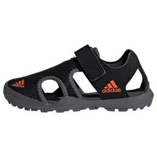 adidas TERREX Captain Toey Sandale Wanderschuhe Kinder Core Black / Orange / Grey Five
