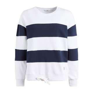 Khujo NECHANA Sweatshirt Damen dunkelblau-weiß gestreift