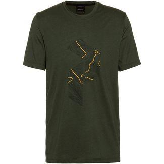Peak Performance Explore Printshirt Herren drift green