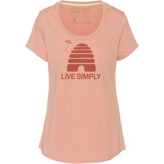 Patagonia Live Simply Hive Scoop T-Shirt Damen scotch pink
