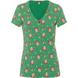 Blutsgeschwister Sunshine camp V-Shirt Damen jungle flowers