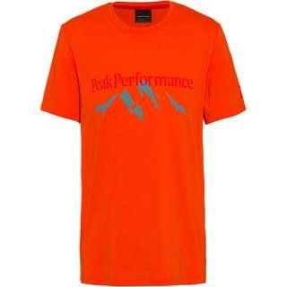 Peak Performance Explore Printshirt Herren aglow