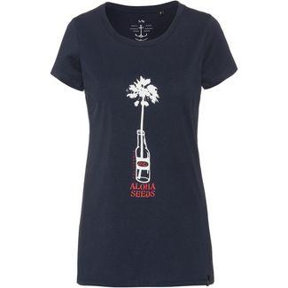 WLD PERSUIT OF HAPPINESS Printshirt Damen navy