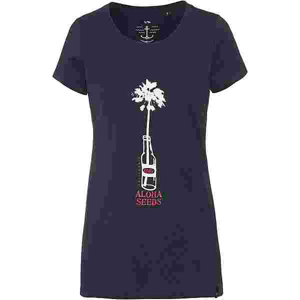WLD PERSUIT OF HAPPINESS Printshirt Damen navy