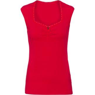 Blutsgeschwister Logo romance V-Shirt Damen simply red