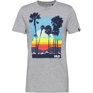 WLD NATURE OF THINGS Printshirt Herren grey melange