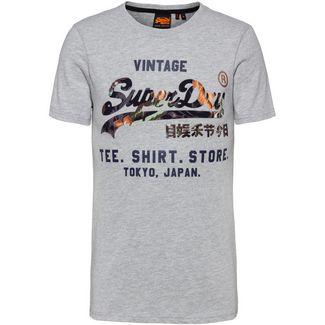 Superdry T-Shirt Herren grey marl