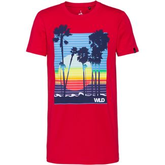 WLD NATURE OF THINGS Printshirt Herren red