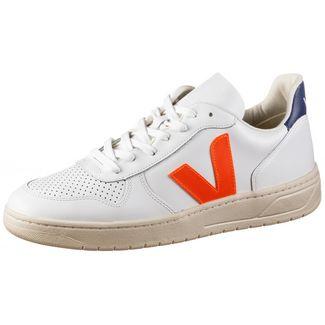 VEJA V-10 Sneaker extra white-orange-fluo-cobalt