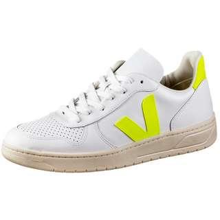 VEJA V-10 Sneaker extra white-jaune-fluo