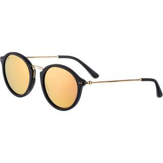 Kapten & Son Maui Sonnenbrille matt black peach mirrored
