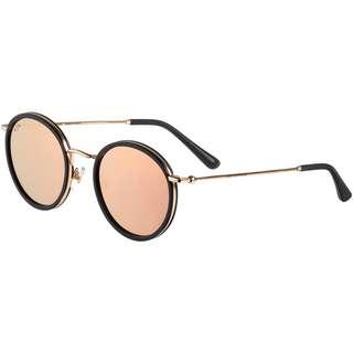 Kapten & Son Amsterdam Sonnenbrille matt black peach mirrored