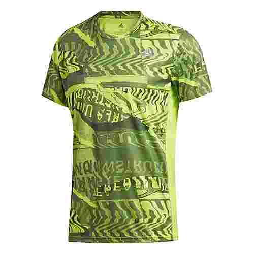 adidas Own The Run Graphic T-Shirt T-Shirt Herren Semi Solar Slime / Legacy Blue