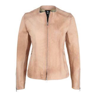REPLAY mit Rundhals Lederjacke Damen rosa