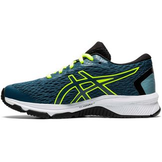 ASICS GT-1000 9 Laufschuhe Kinder magnetic blue-safety yellow