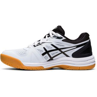 ASICS Upcourt Hallenschuhe Kinder white-black