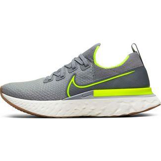 Nike React Infinity Run FK Laufschuhe Herren particle grey-volt- wolf grey