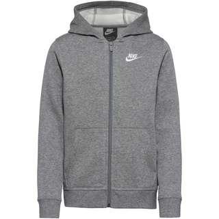 Nike NSW CLUB Kapuzenjacke Kinder carbon heather-smoke grey-white