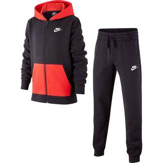 Nike B NSW CORE BF TRK SUIT Trainingsanzug Kinder black-black-university red-white