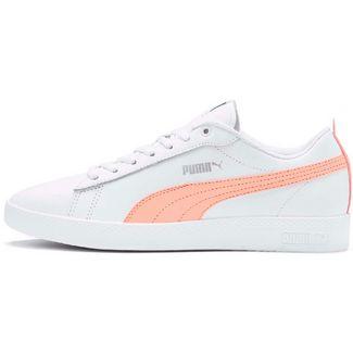 PUMA Smash V2 Sneaker Damen puma white-peach parfait-puma