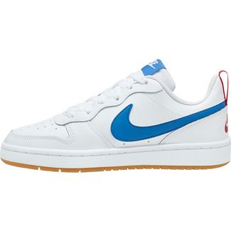 Nike Court Borough Low 2 Sneaker Kinder white-pacific blue-university red