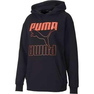 PUMA Rebel Hoodie Damen puma black-nrgy peach