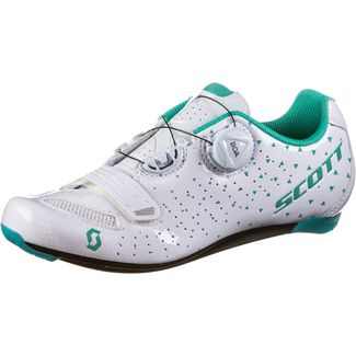 SCOTT Road Comp Boa Fahrradschuhe Damen gloss white/turquoise blue
