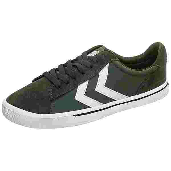 hummel Nile Canvas Low Sneaker Herren oliv