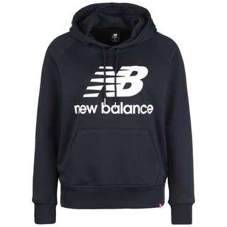 NEW BALANCE Essentials Hoodie Damen schwarz / weiß