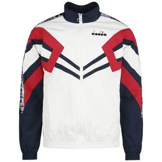 Diadora Track Jacket MVB Trainingsjacke Herren weiß / dunkelblau