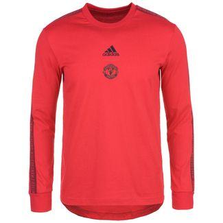 adidas Manchester United Funktionssweatshirt Herren rot