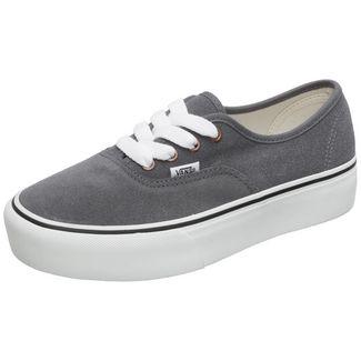 Vans Authentic Platform 2.0 Sneaker Damen dunkelgrau / weiß