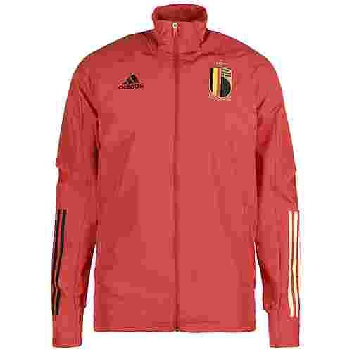 adidas Belgien EM 2021 Trainingsjacke Herren rot
