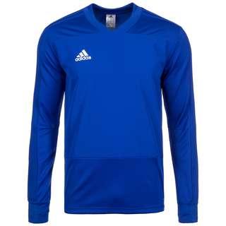 adidas Core 18 Funktionssweatshirt Herren blau / weiß